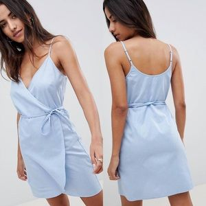 ASOS Linen Wrap Dress
